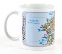 Aberystwyth University Mug with Ordnance Survey Map
